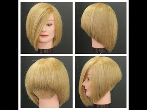 swing bob haircut steps stacked bob haircut tutorial 短片爆報
