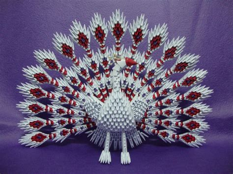 Paper For 3d Origami - 3d origami peacock hartosna 3d origami
