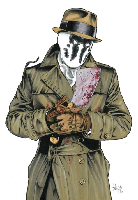 watchmen art of the rorschach fan art c0rn3liusdwelling
