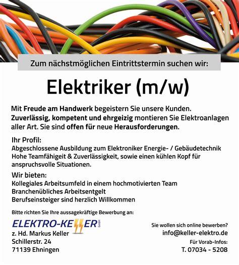 elektriker finden elektro keller ehningen ihr profi f 252 r alle