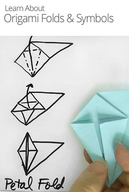 Origami Symbols - origami folds symbols arts crafts