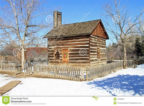 Restored Log Cabins by Restored Log Cabin Royalty Free Stock Photography Image