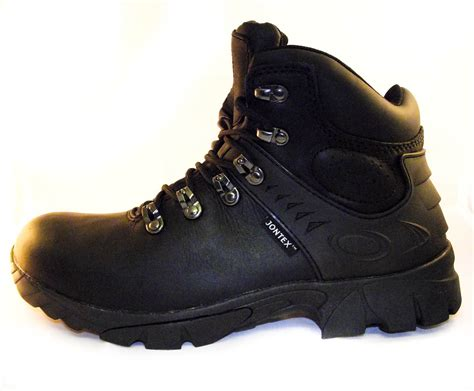 slip resistant boots for waterproof slip resistant black leather walking or