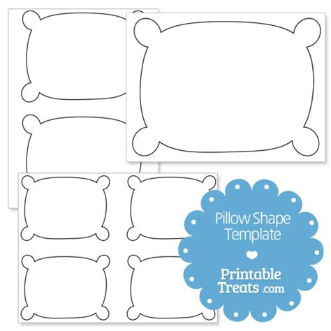 Pillow Template by Printable Pillow Shape Template Printable Treats