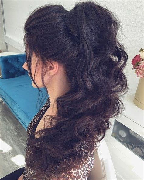 Wavy Ponytail Hair best 25 curly ponytail ideas on curly hair
