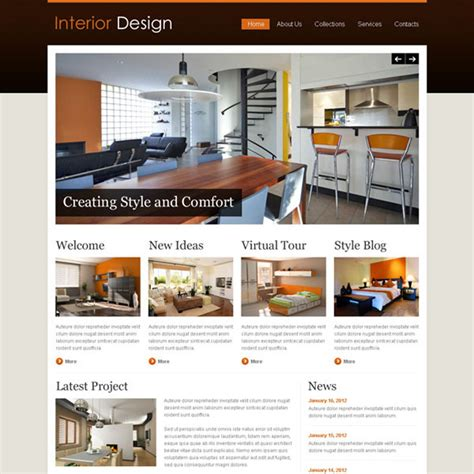 Home Interior Design Website Templates Label Interior Design Website Templates Interior Designer