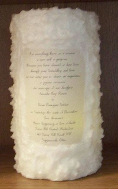 Wedding Invitations Made Into Candles wedding candle with invitation