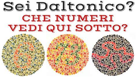 tavole dei colori daltonismo test di ishihara vedi bene tutti i