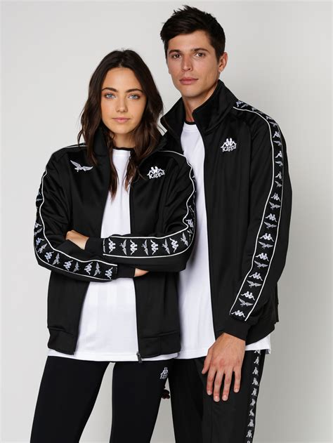 Team Fashion by Kappa Peking Duk Banda Track Jacket In Black