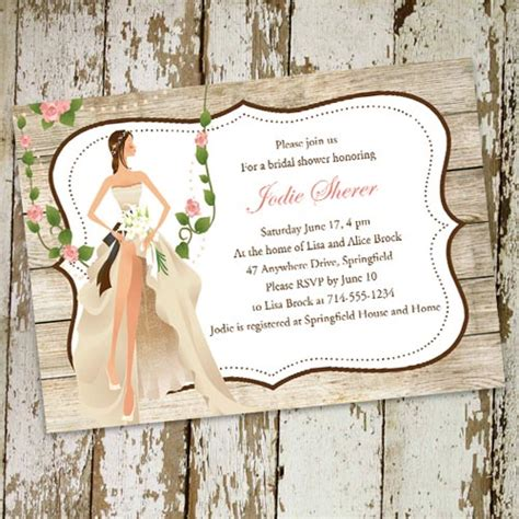 vintage inspired wedding shower invitations vintage garden country bridal shower invitations ewbs052 as low as 0 94
