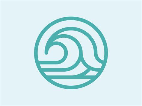 wave pattern logo wave icon by justin block dribbble