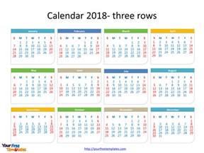 Calendar 2018 Whole Year Printable Calendar 2018 Free Powerpoint Templates