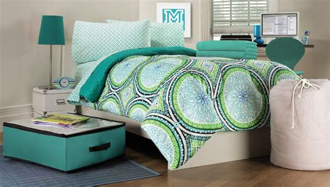 dorm room comforter sets essential home 9 piece twin xl dorm room bedding set