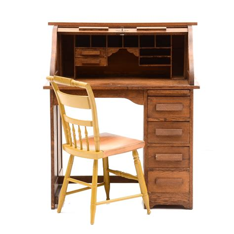 mark wayne roll top desk antique roll top desk with chair ebth