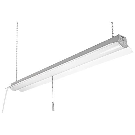 Commercial Electric 4 Ft Bright Cool White Integrated Led 4 Ft Led Light