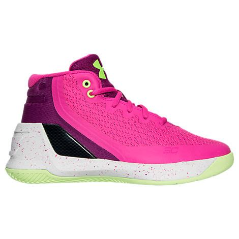 pink armour basketball shoes armour preschool curry 3 basketball shoes