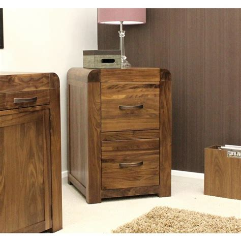 shiro walnut two drawer filing cabinet best price guarantee