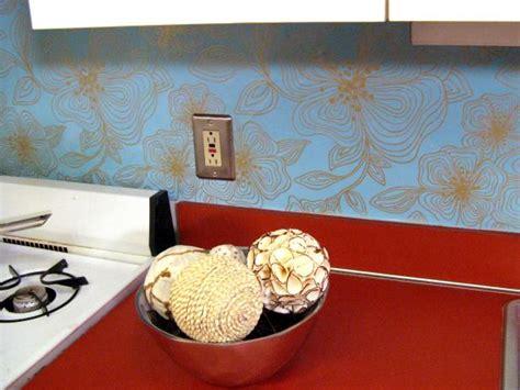 wallpaper kitchen backsplash ideas 100 images 100 half day designs wallpapered backsplash hgtv