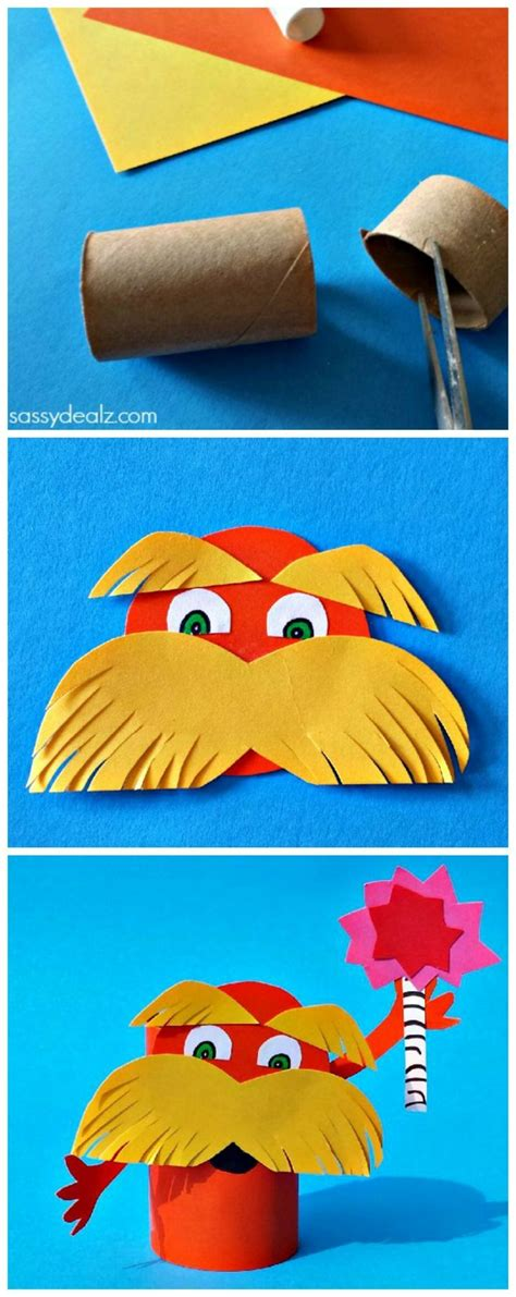 Craft Roll Paper - lorax toilet paper roll craft for dr suess