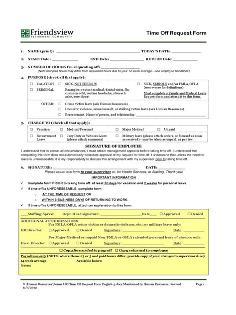 employee time off request form archives find word templates