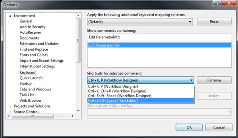 reset visual studio keyboard settings c how to get parameter hints completion in visual