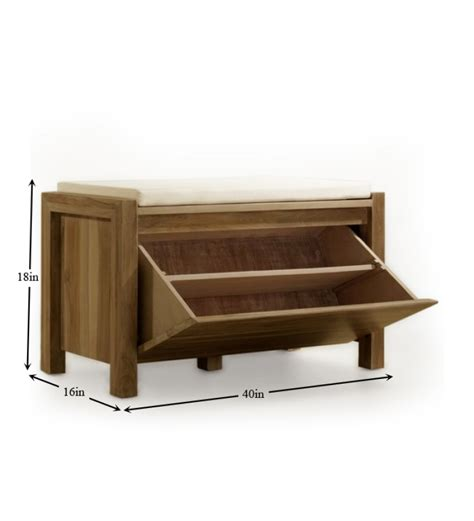 wooden shoe storage bench mango wood shoe rack and bench by mudramark shoe