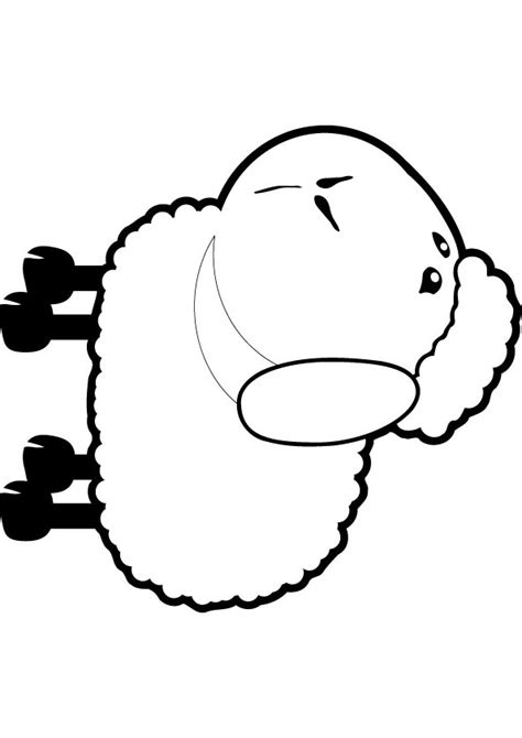 simple sheep coloring page fluffy sheep color pages