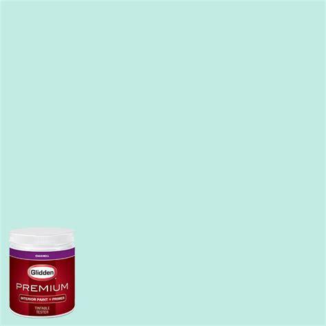 glidden premium 8 oz hdgb03u aqua sky eggshell interior paint with primer tester hdgb03up 08en