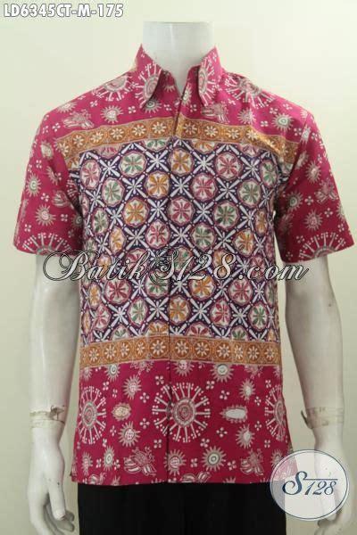 Baju Batik Terbaru Lengan Pendek Ukuran M Motif Bunga jual hem lengan pendek ukuran m kemeja batik halus