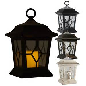 led solar powered candle lantern l light