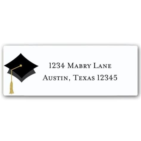 graduation labels template free search results for return address label template