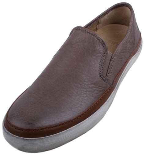 frye mens sneakers frye gavin slip on mens grey leather slip on loafer shoes