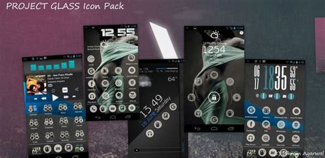 theme apk nova launcher go apex nova project glass icons pack theme android