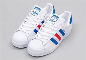 adidas superstar colors adidas superstar white blue bb2246 sneakernews