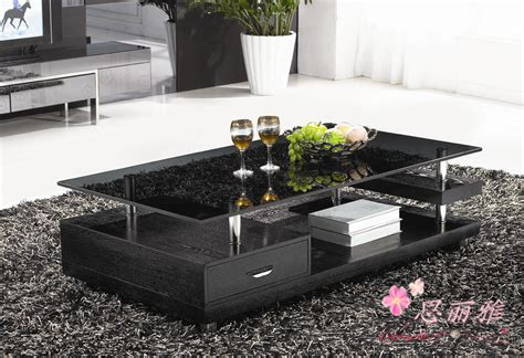 glass living room table wooden coffee table glass tea table wooden end table