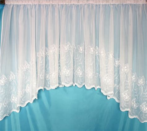 jardiniere net curtains uk butterfly white embroidered voile jardiniere net curtain