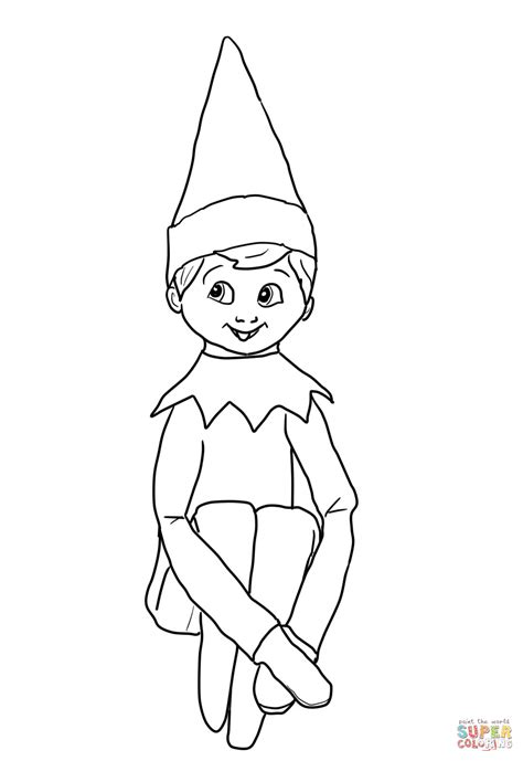 coloring page of a girl elf girl elf on the shelf coloring pages you might also be
