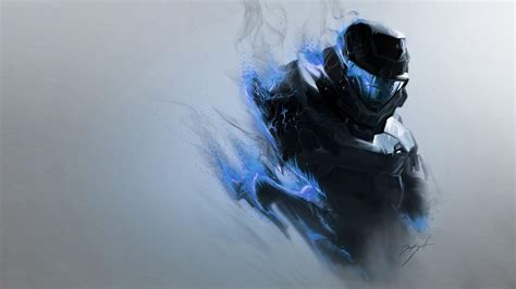 game wallpaper blue halo spartan wallpapers wallpaper cave