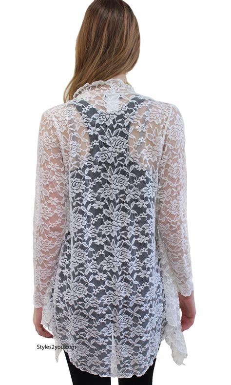 J65 01 Kardigan Bolero Wanita Spandex Big Size Hijau Motif Bunga harmony vintage lace open cardigan in 7914 cm verducci clothing jacket 54 00