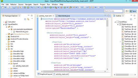 membuat aplikasi android input data naufal farid tutorial membuat aplikasi input data dengan
