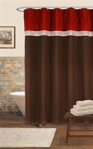 chocolate brown shower curtains lush decor terra shower curtain chocolate