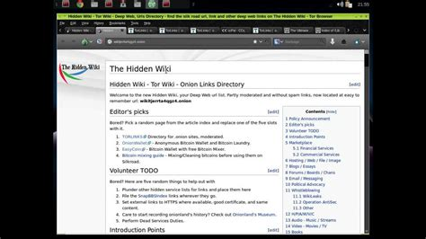 hidden wiki 2016 dark web search engine list