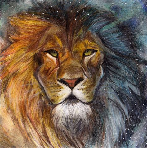 drawing and painting free aslan narnia by tralala1984 on deviantart