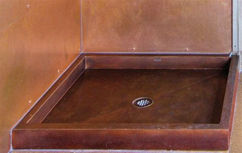 Metal Shower Pan by Beautiful Stainless Steel And Copper Shower Pans From