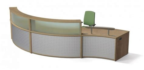 Curved Reception Desk Concave Curved Reception Desk Vision Office Reality