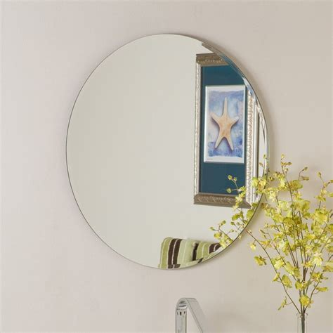 circular bathroom mirror shop decor 23 6 in x 23 6 in frameless