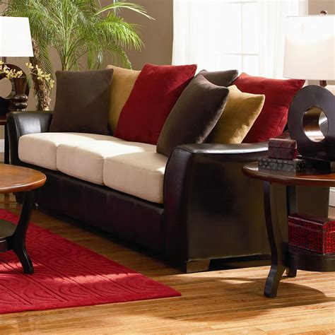 microfiber and leather couch lily beige microfiber sofa steal a sofa furniture outlet