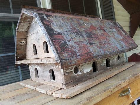 live roof birdhouse barn bird house with tin roof birdhousetips