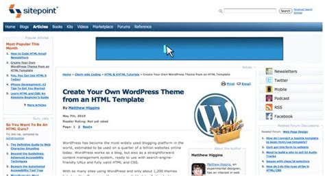Create Your Own Theme From An Html Template by Best Resources For Learning Development Design