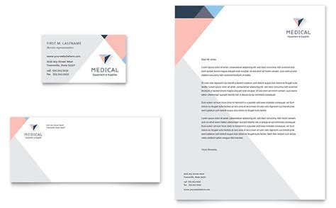 Disability Medical Equipment Business Card Letterhead Template Word Publisher Letterhead And Business Card Templates